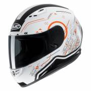 HJC CS-15 SAFA WHITE/ORANGE