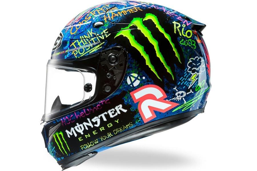 Sportowy kask motocyklowy