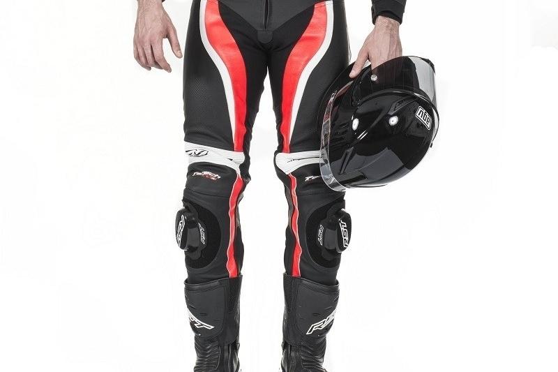 Spodnie motocyklowe skórzane sportowe